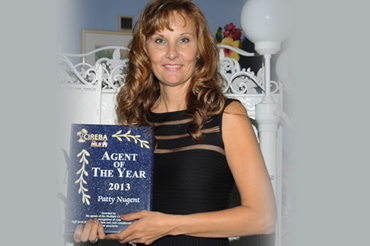 Ms. Patty Nugent, 2013 CIREBA Agent of the Year.
