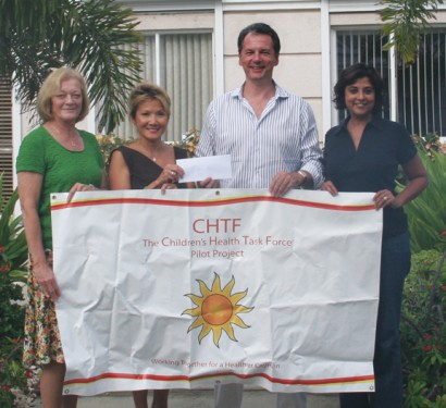 From Left to Right: Donna Sjostrom (Manager of CIREBA), Dr Sook Yin (Medical Director and Ministry Liaison of CHTF), Jeremy Hurst (President of CIREBA), Maureen Cubbon (Program Coordinator of CHTF).