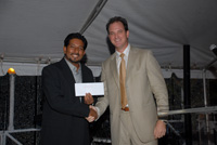 Mr. Hermant Balgobin accepted the generous donation from Mr. James Bovell of CIREBA in December 2008.