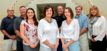 From left to right: Quatro Hatch, Douglas Sell, Heidi Kiss, Jeanette Totten, Michael Day, Heather Carrigan, Brian Wight and Maria Alberga.
