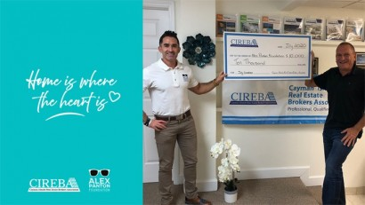 """Home is Where the Heart is"" donates CI$10,000 to the Alex Panton Foundation  JULY Donation"