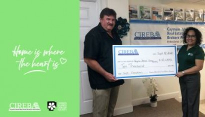 """""""Home is Where the Heart is"""" donates CI$10,000 to the Cayman Islands Cancer Society  SEPTEMBER DONATION"""