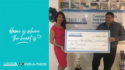 """""""Home is Where the Heart is"""" donates CI$10,000 to KER-A-THON  OCTOBER DONATION"""