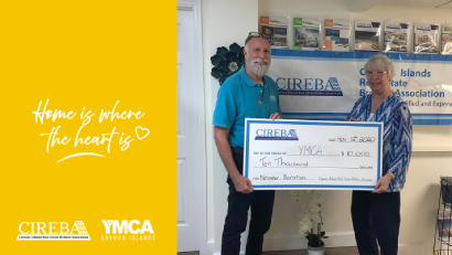 """Home is Where the Heart is"" donates CI$10,000 to the YMCA of the Cayman Islands  NOVEMBER DONATION"